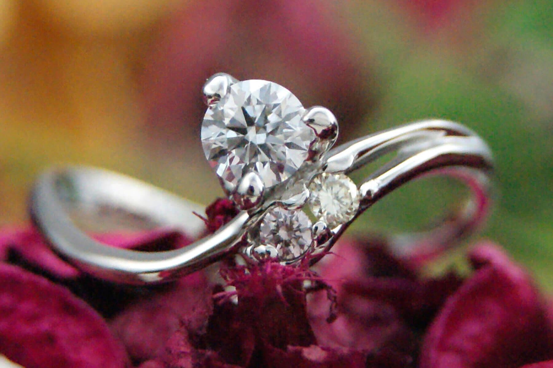 ダイヤモンド   ダイヤモンド   かざりやゆい   世界に一つだけの結婚指輪「kazariya Yui」   福島県郡山市