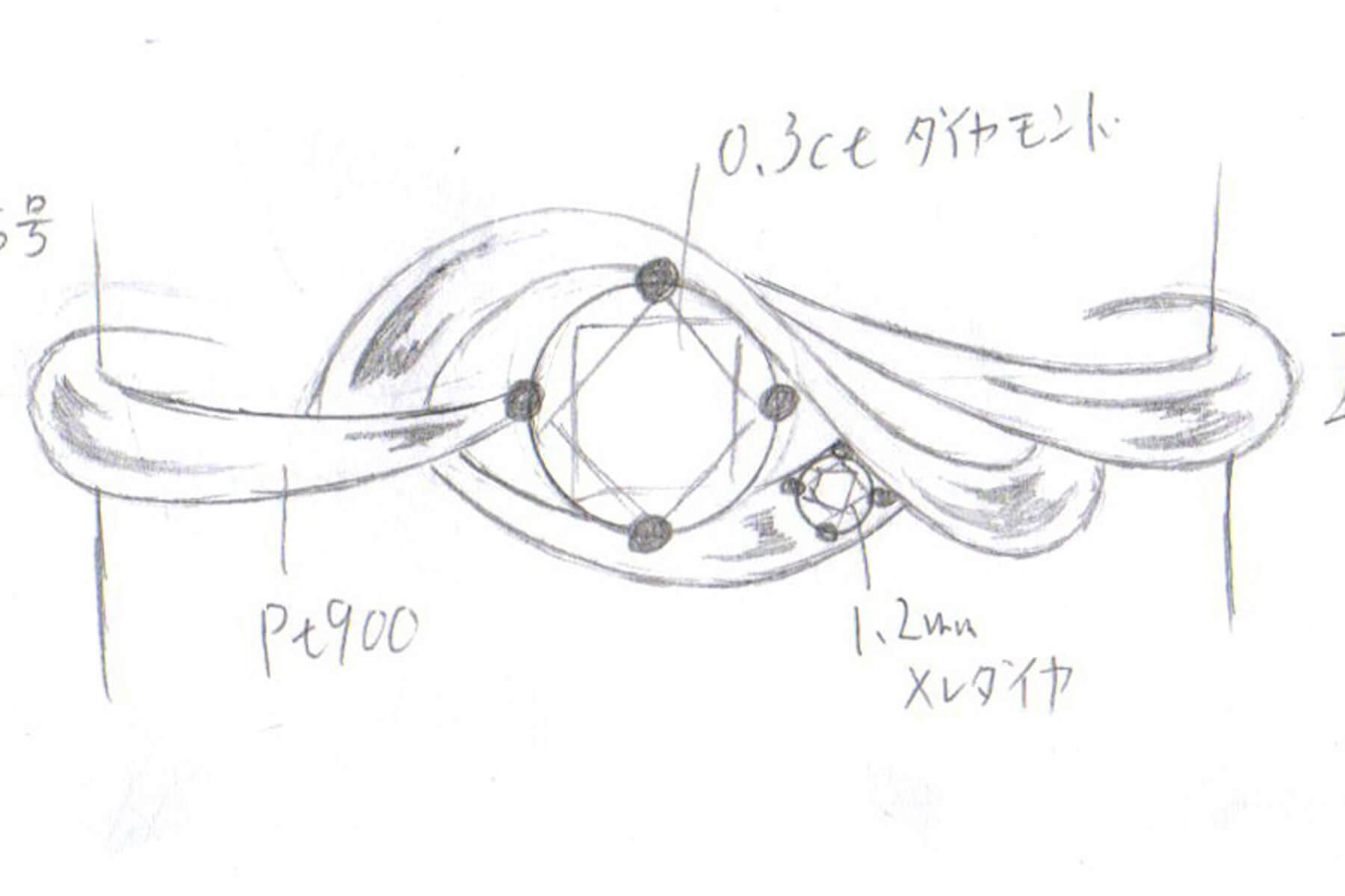 オーダーメイド・製法 | デザイン画作成 | かざりやゆい | 世界に一つだけの結婚指輪「kazariya Yui」 | 福島県郡山市