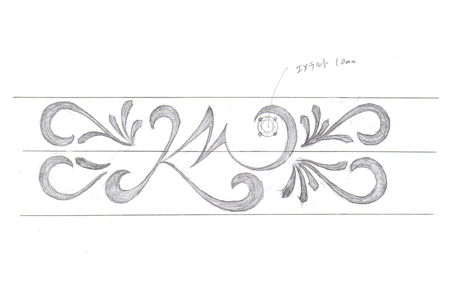 セミオーダーメイド | 内側イラストデザイン | かざりやゆい | 世界に一つだけの結婚指輪「kazariya Yui」 | 福島県郡山市