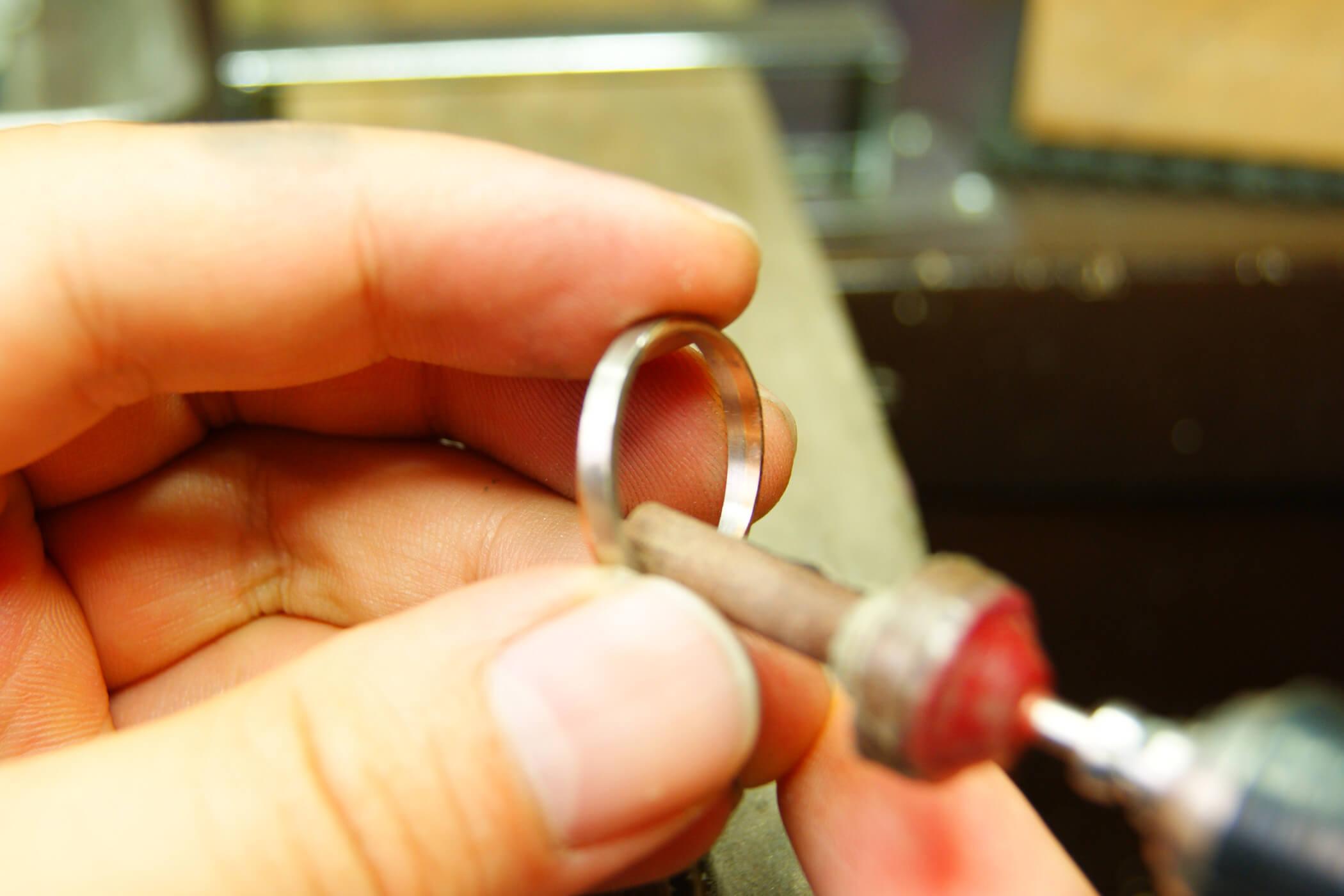 セルフメイド | 地金加工 | かざりやゆい | 世界に一つだけの結婚指輪「kazariya Yui」 | 福島県郡山市