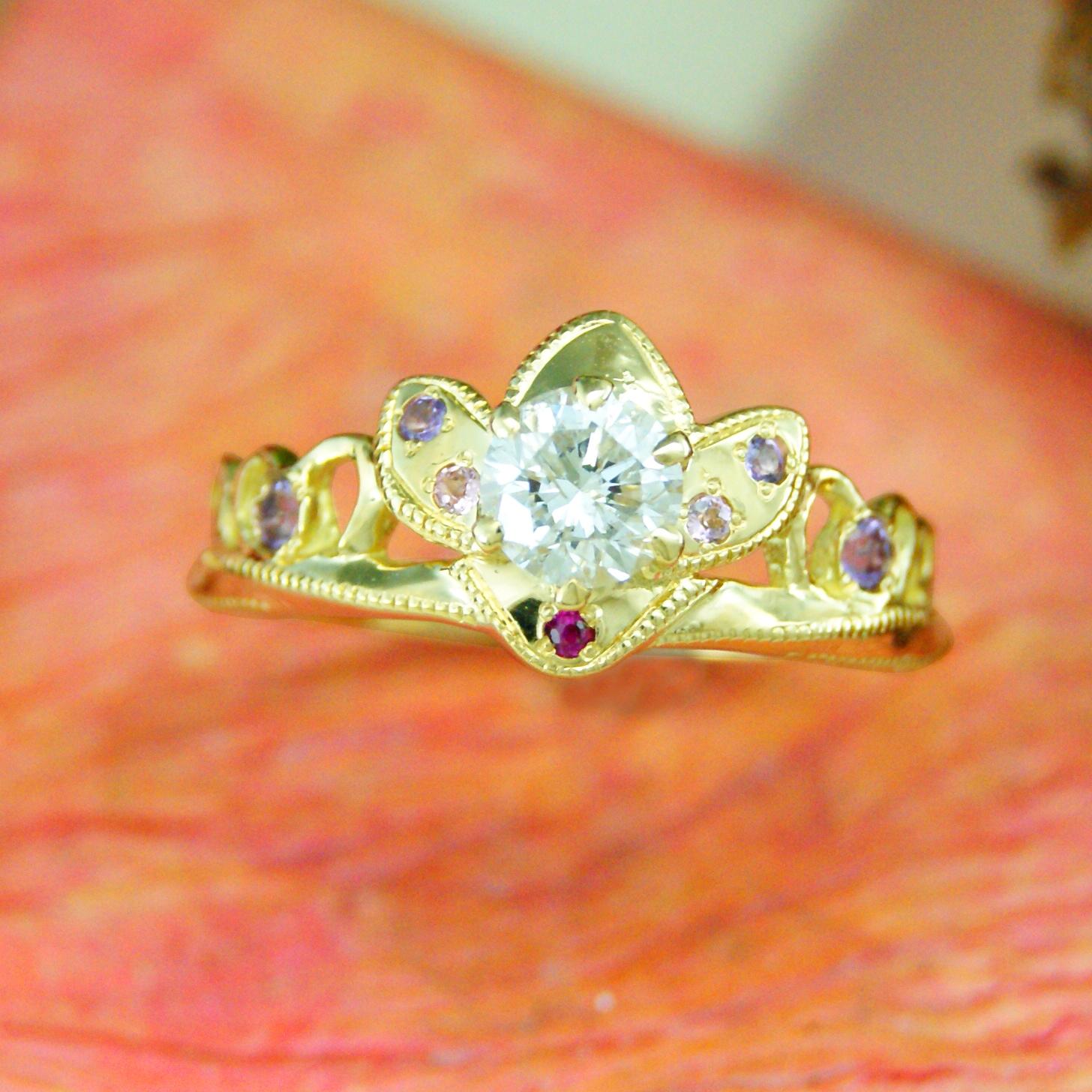 世界に一つだけの結婚指輪 kazariyaYui 福島県郡山市 ティアラ 婚約指輪