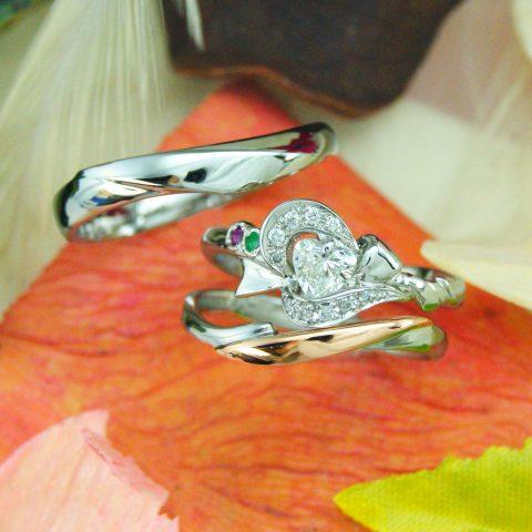 世界に一つだけの結婚指輪 kazariyaYui 福島県郡山市 結婚指輪 婚約指輪 ハート