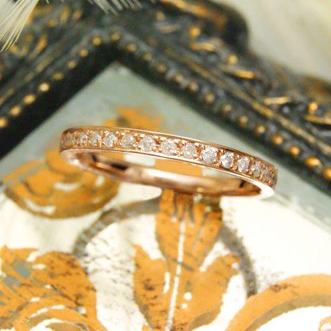 世界に一つだけの結婚指輪 kazariyaYui 福島県郡山市 エタニティ 婚約指輪