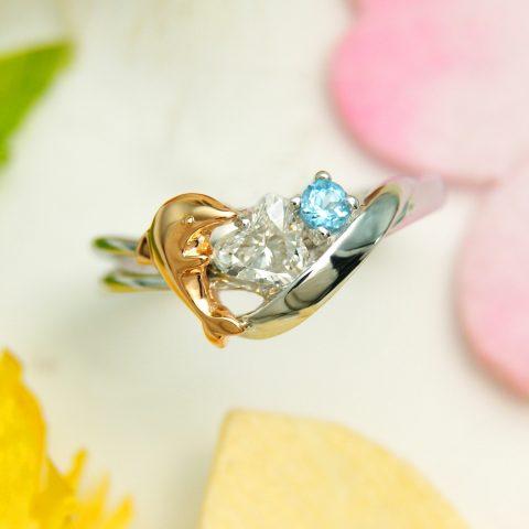 世界に一つだけの結婚指輪 kazariyaYui 福島県郡山市 イルカ 婚約指輪