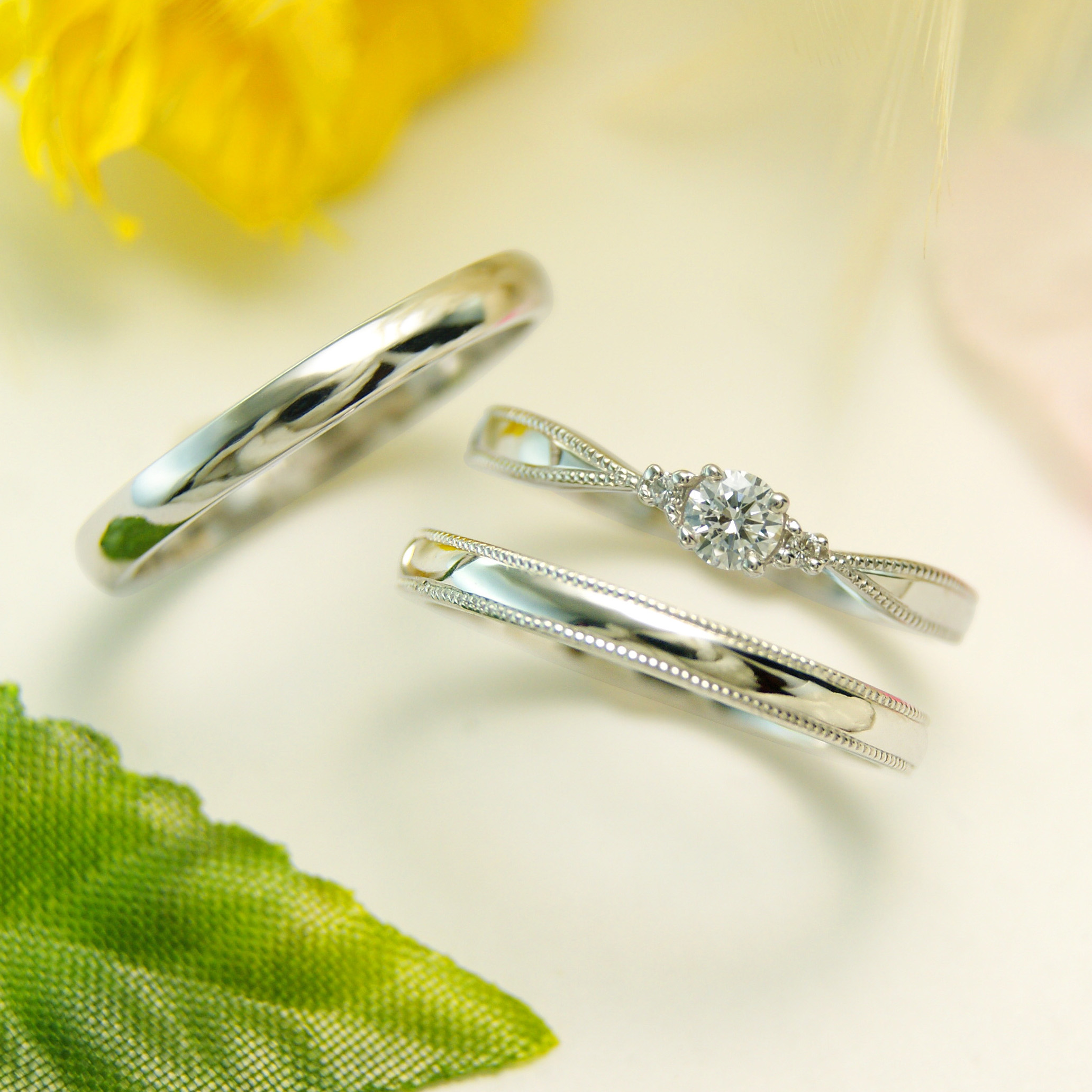 世界に一つだけの結婚指輪 kazariyaYui 福島県郡山市 結婚指輪 婚約指輪