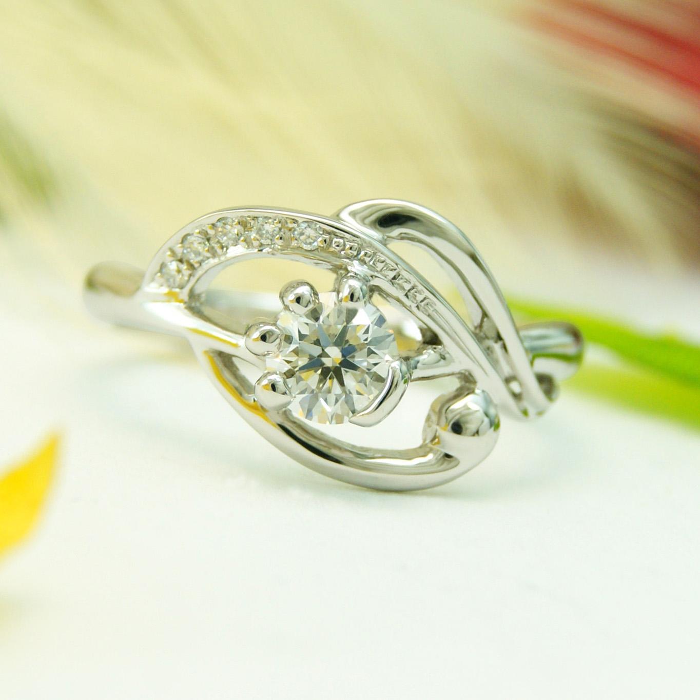 世界に一つだけの結婚指輪 kazariyaYui 福島県郡山市 猫 婚約指輪
