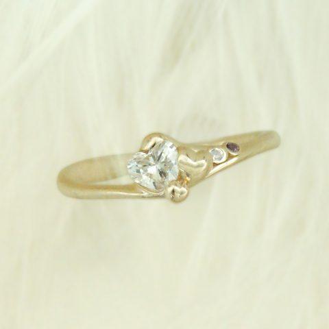 世界に一つだけの結婚指輪 kazariyaYui 福島県郡山市 ハート 婚約指輪