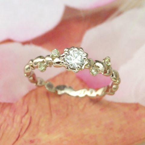 世界に一つだけの結婚指輪 kazariyaYui 福島県郡山市 桜 婚約指輪
