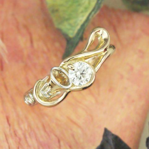 世界に一つだけの結婚指輪 kazariyaYui 福島県郡山市 音符 クラリネット 婚約指輪