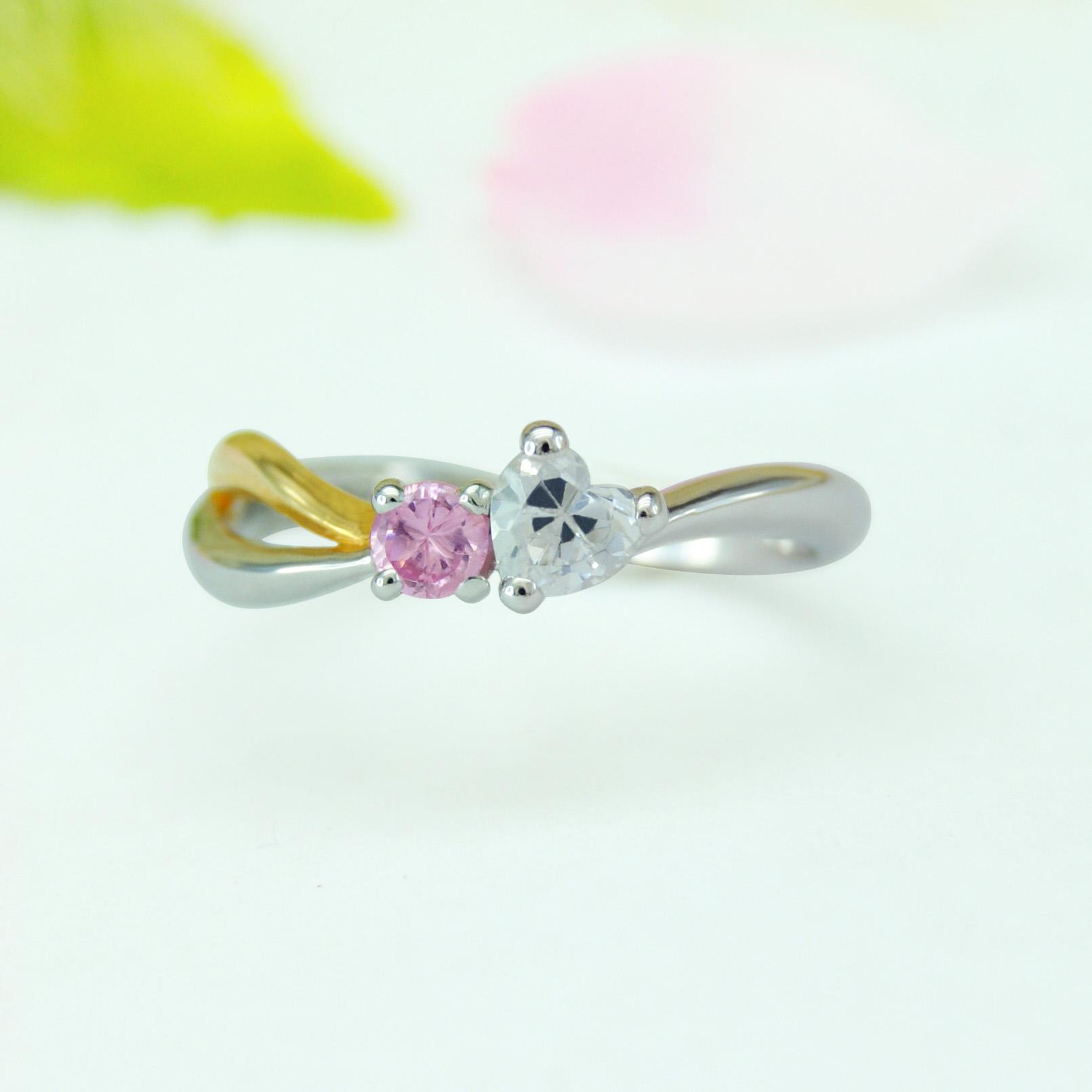 世界に一つだけの結婚指輪 kazariyaYui 福島県郡山市 婚約指輪 ハート