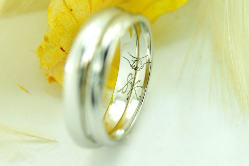 世界に一つだけの結婚指輪 kazariyaYui 福島県郡山市 内側のこだわり