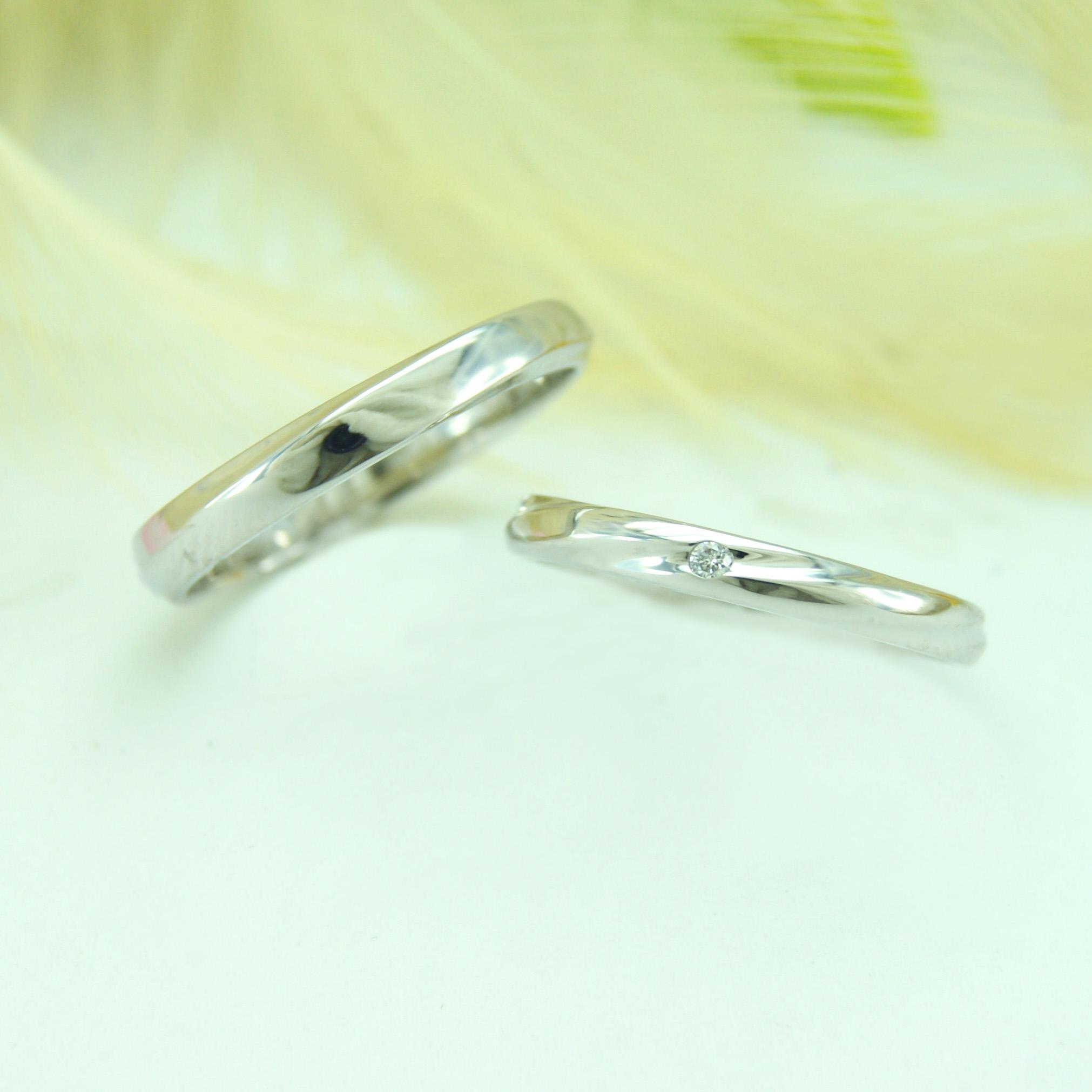 世界に一つだけの結婚指輪 kazariyaYui 福島県郡山市 シンプル