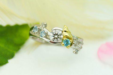 婚約指輪 オーダーメイド kazariyaYui 福島県郡山市 巻貝
