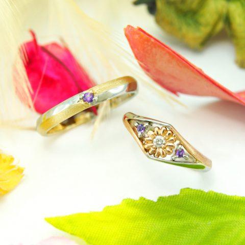 ふたりのこだわりが詰まったオーダーメイドの結婚指輪