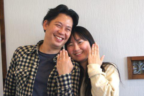婚約指輪と結婚指輪をオーダーしていただいた郡山市の佐久間さんご夫妻