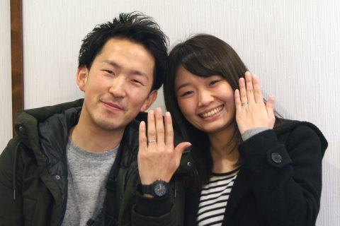 カップル,結婚指輪,kazariyaYui,福島県郡山市