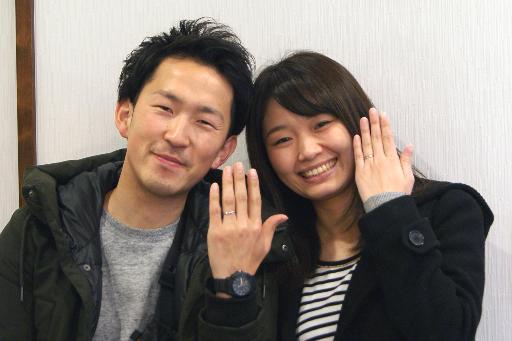 郡山市の岡部さんご夫妻から結婚指輪をオーダー頂きました。
