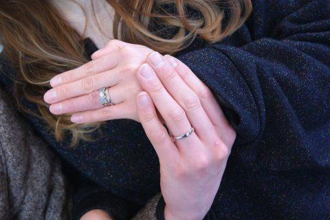 郡山市にお住いのS様C様結婚指輪アップ