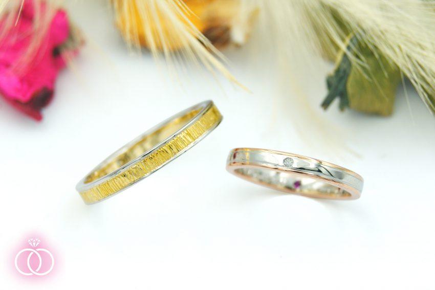 郡山市にお住いのNさんご夫妻の結婚指輪