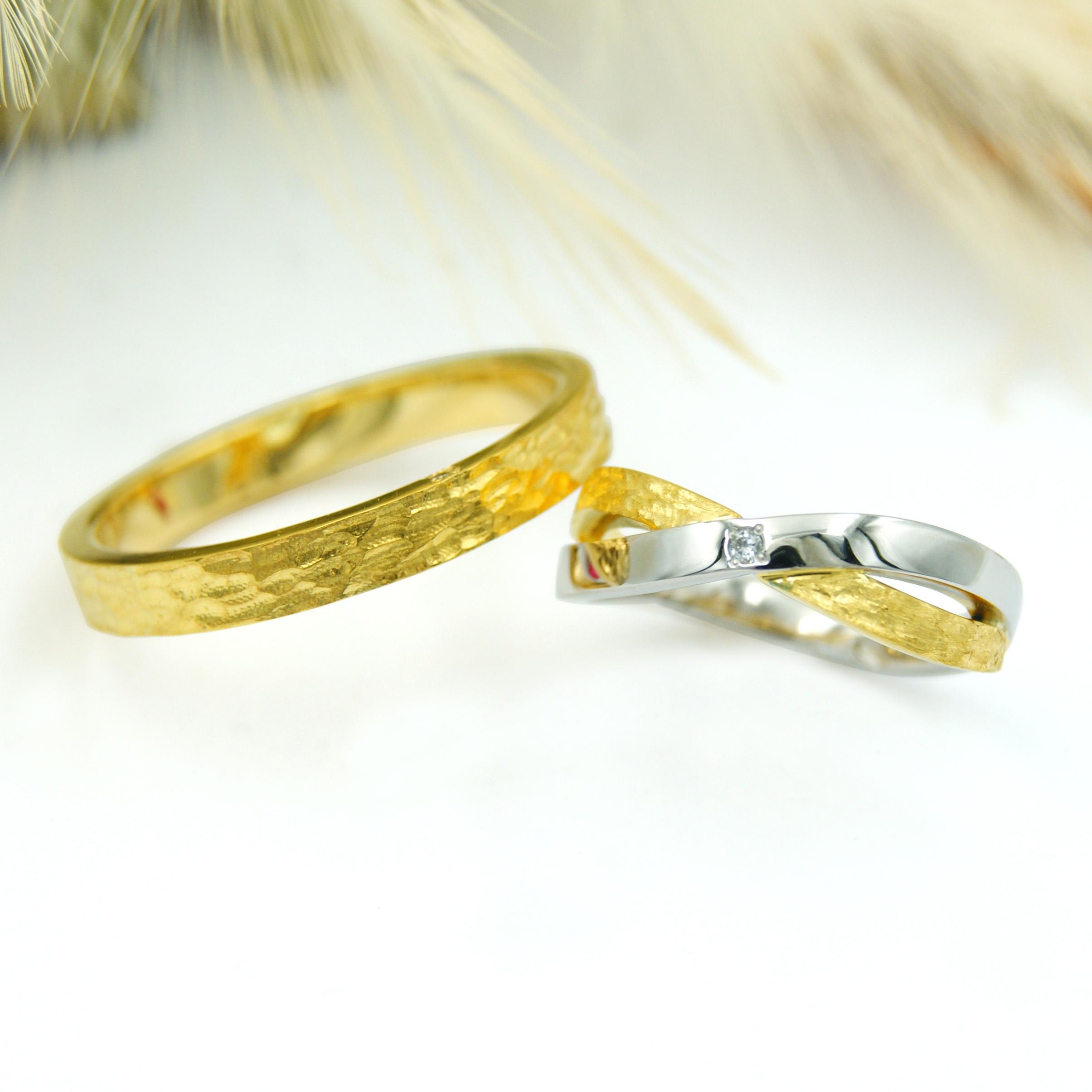 オーダーメイドの北欧風結婚指輪