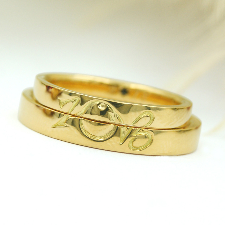 シャボン玉モチーフの結婚指輪