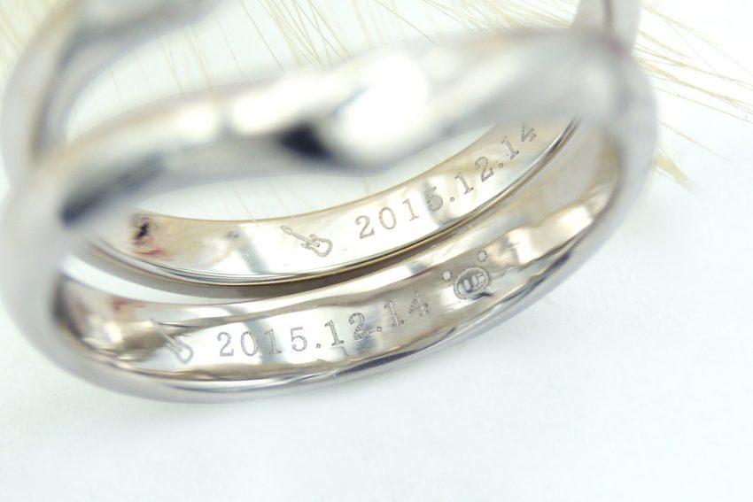 結婚指輪の内側に入れたふたりの好きなもの