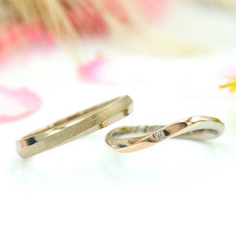 メヴィウスの輪モチーフの結婚指輪