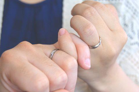 結婚指輪をご依頼頂きました須賀川市からお越しのHさんご夫妻