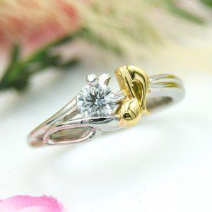 樹木と音符モチーフの婚約指輪/福島県郡山市