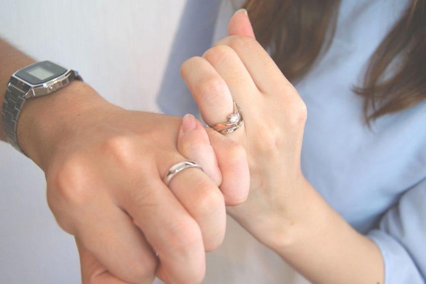 福島市からお越しの伊藤さんご夫妻の結婚指輪/kazariyaYui福島県郡山市