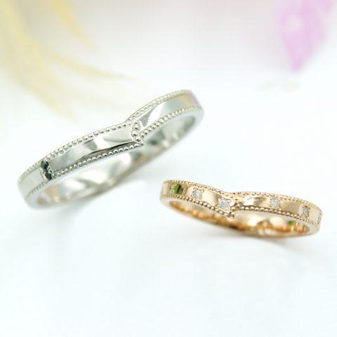 リボンモチーフの結婚指輪/福島県郡山市