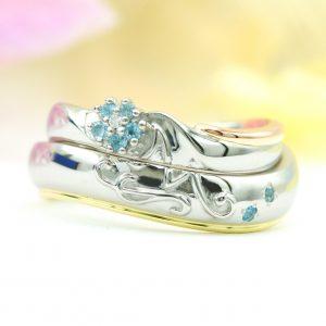 ネモフィラの結婚指輪/福島県郡山市