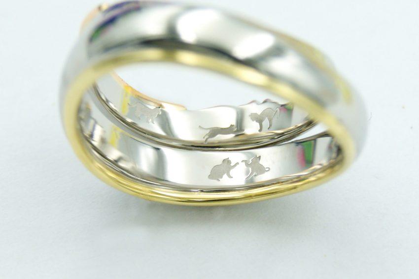 結婚指輪の内側で遊ぶ猫/福島県郡山市