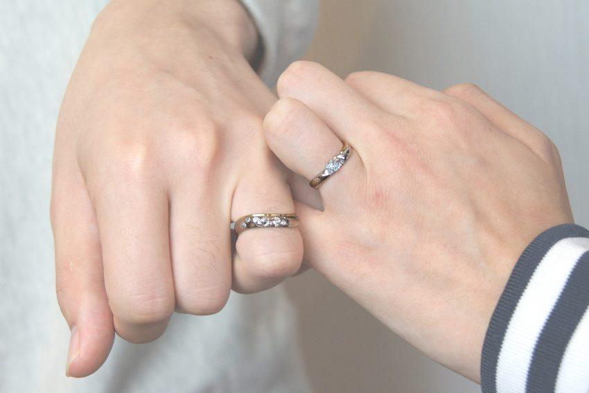 結婚指輪の手のアップ/福島県郡山市