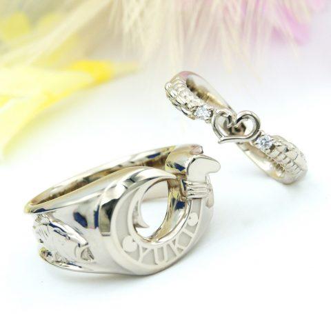 釣りが好きなおふたりの結婚指輪/kazariyaYui福島県郡山市