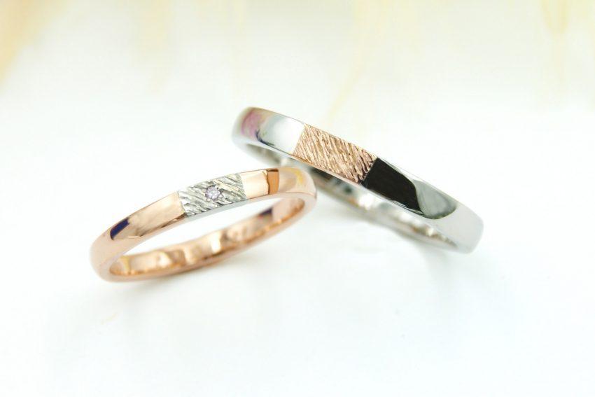 さりげなく北欧テイストを取り入れた結婚指輪/kazariyaYui福島県郡山市