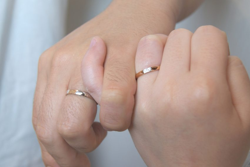 結婚指輪をご依頼された郡山市からお越しの鈴木さんご夫妻/kazariyaYui福島県郡山市