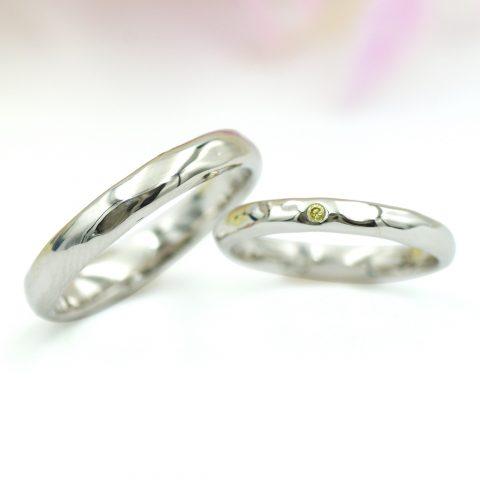 緩やかな凹凸の結婚指輪/kazariyaYui福島県郡山市