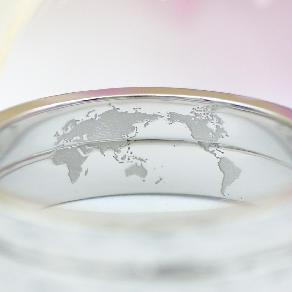 指輪の内側に込められた世界地図/kazariyaYui福島県郡山市