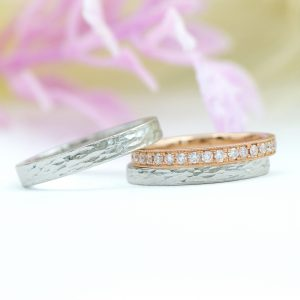 北欧デザインの婚約指輪・結婚指輪/kazariyaYui福島県郡山市