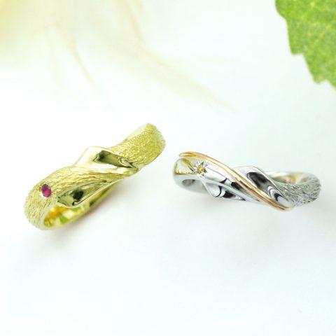 幸せの木をイメージしたエタニティラインの結婚指輪/kazariyaYui福島県郡山市