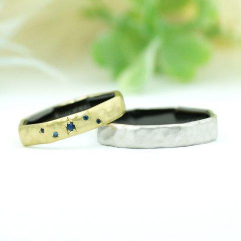 北欧テイストの八角形の結婚指輪/kazariyaYui福島県郡山市