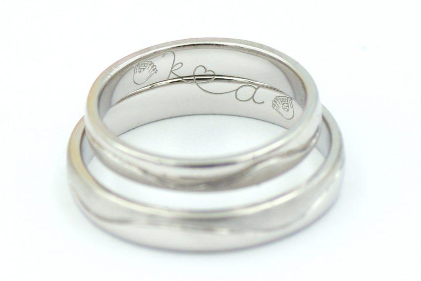 手作りの結婚指輪~内側に込められたキャッチボール~/kazariyaYui福島県郡山市