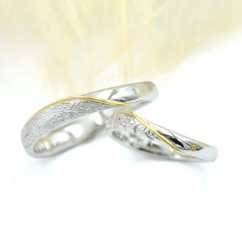 手作りの結婚指輪~北欧風装飾とプルメリアの模様~/kazariyaYui福島県郡山市