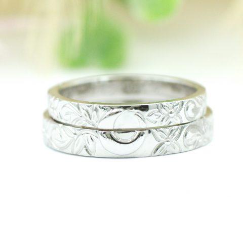 ハワイアンジュエリー模様の結婚指輪月/kazariyaYui福島県郡山市