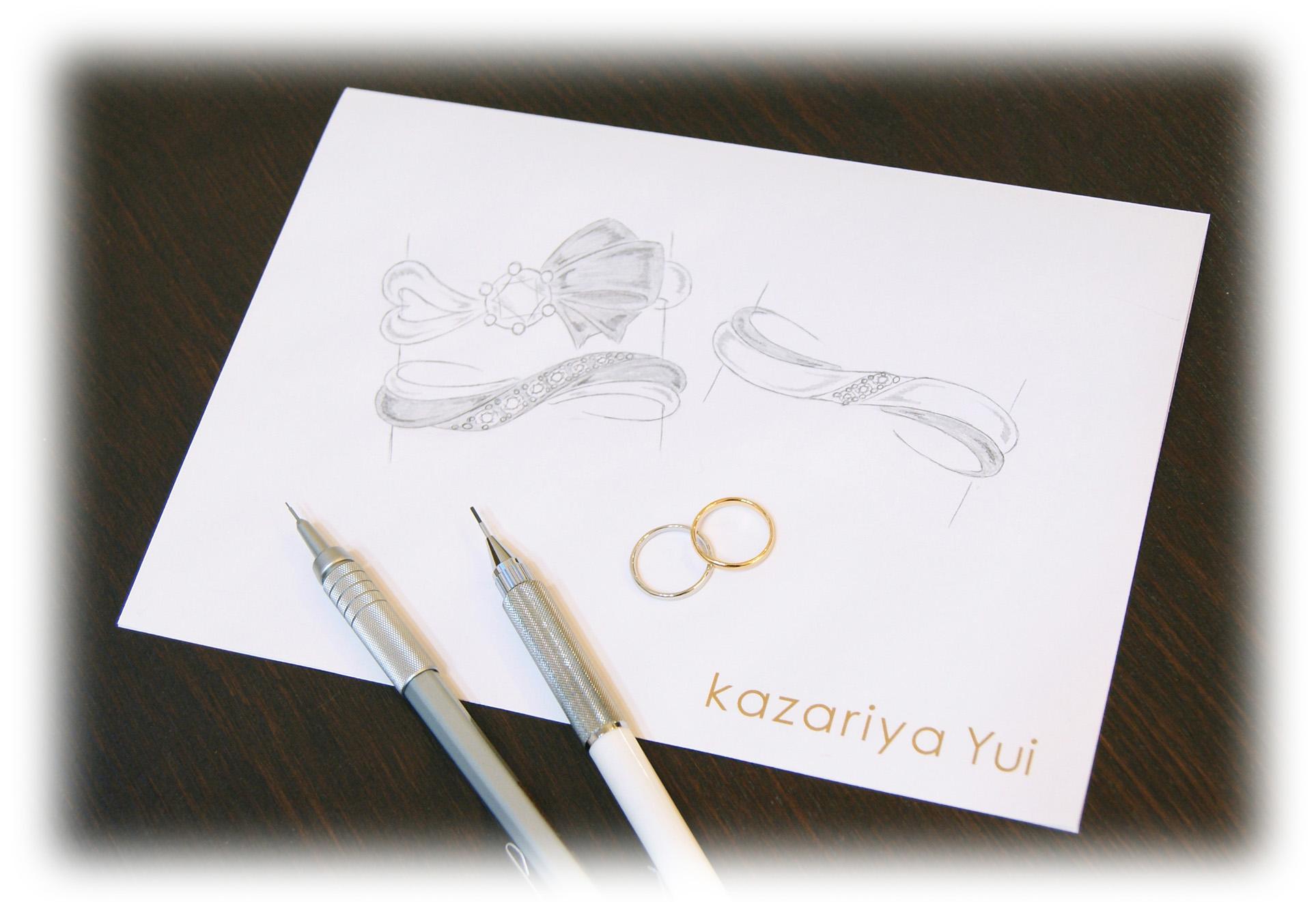 世界でふたりだけの結婚指輪/kazariyaYui福島県郡山市