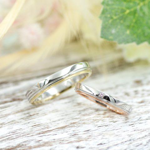ふたりの固い結びつきが表現された結婚指輪/kazariyaYui福島県郡山市