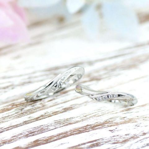 エタニティにミル打ちを施した結婚指輪/kazariyaYui福島県郡山市