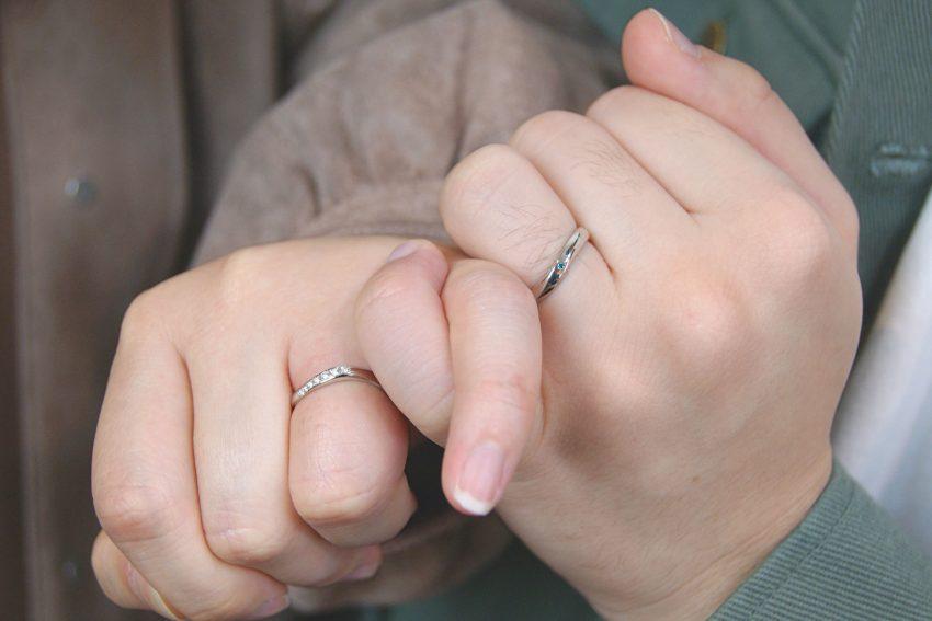 結婚指輪をご依頼頂きました天栄村からお越しの石井さんご夫妻/kazariyaYui福島県郡山市