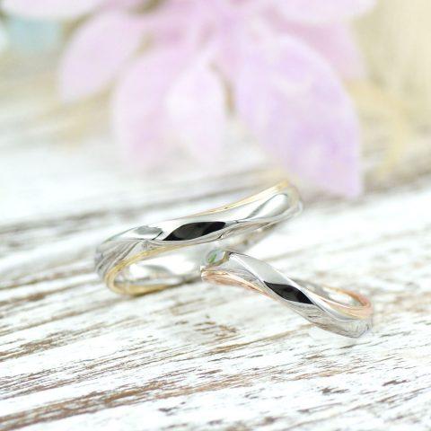 エタニティラインを使ったコンビの結婚指輪/kazariyaYui福島県郡山市